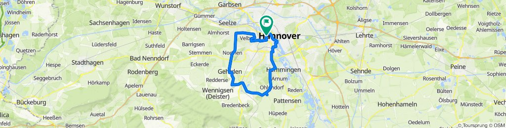 Sportliche Route in Hannover