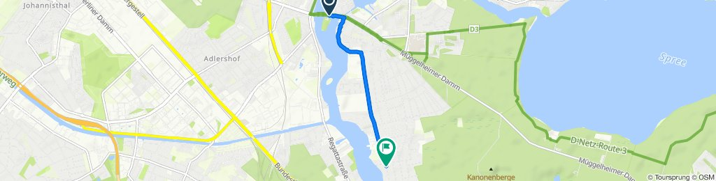 Entspannende Route in Berlin