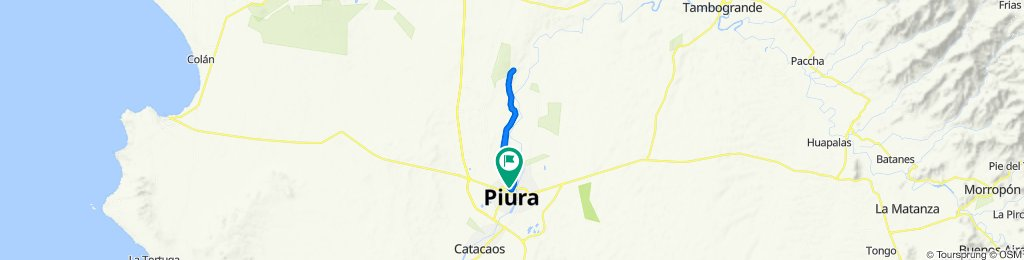 Ruta rápida en Piura