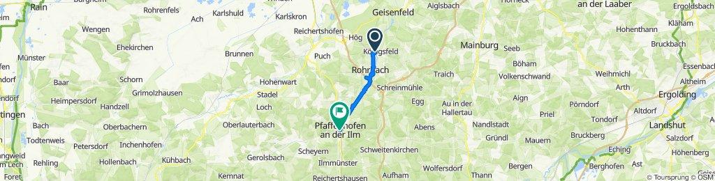Semptstraße 10, Rohrbach an der Ilm to Sparkassenplatz, Pfaffenhofen an der Ilm