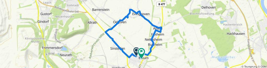 Langsame Fahrt in Rommerskirchen