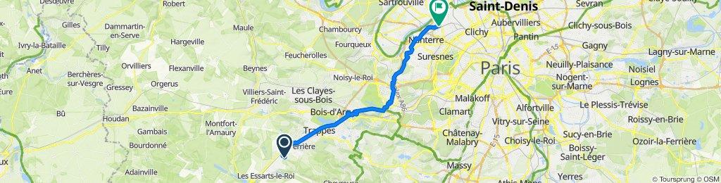 30 Route de Bellepanne, Le Mesnil-Saint-Denis to 1 Rue de Mantes, Colombes