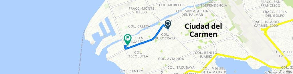 De Avenida Juárez 229, Ciudad del Carmen a Calle 49 40, Ciudad del Carmen