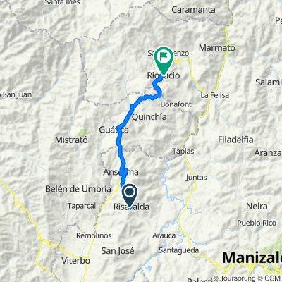 Carrera 2 7-1–7-99, Risaralda to Carrera 9 8-1–8-99, Quinchia