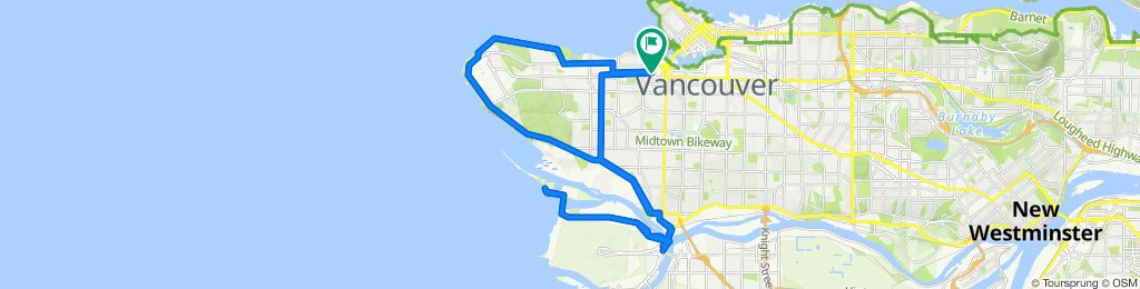 Supersonic route in Vancouver