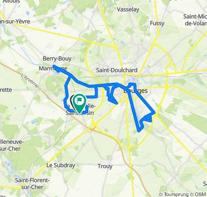 39 Rue de la Gare, La Chapelle-Saint-Ursin to 4 Impasse de Provence, La Chapelle-Saint-Ursin