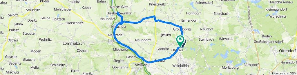 Oberau - Diesbar-Seußlitz - Meißen - Oberau