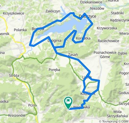 Węglówka - Jezioro Dobczyckie - Węglówka