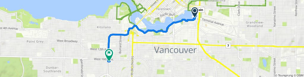 Quebec Street 101-1455, Vancouver to East Boulevard 3298, Vancouver
