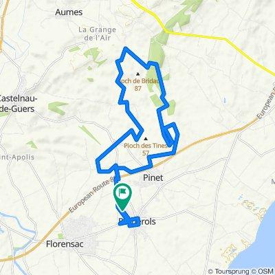 Route stable en Pomérols