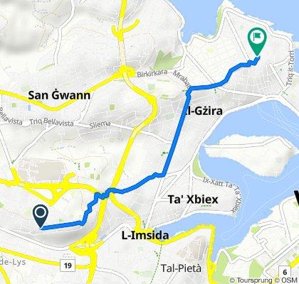 Il-Gostra 22, Birkirkara to George Borg Olivier Street 10, Sliema