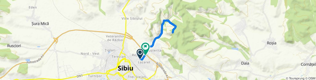 Route from Strada Egalității 24, Sibiu