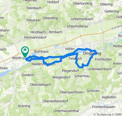 Wörth-DGF-Spiegelbrunn-Teisbach-Loiching-Niederviehbach-Wörth