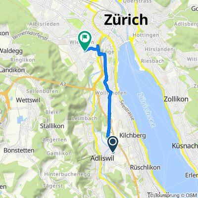 Lebernstrasse 5, Adliswil to Binzstrasse 35, Zürich