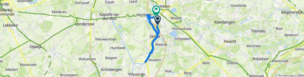 Zemstbaan 97A, Mechelen to Kruisbaan 125, Mechelen