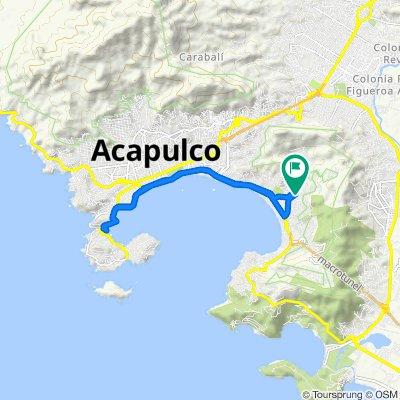 Calle Hilario Rodríguez Malpica 47, Acapulco to Calle Parque S 350, Acapulco