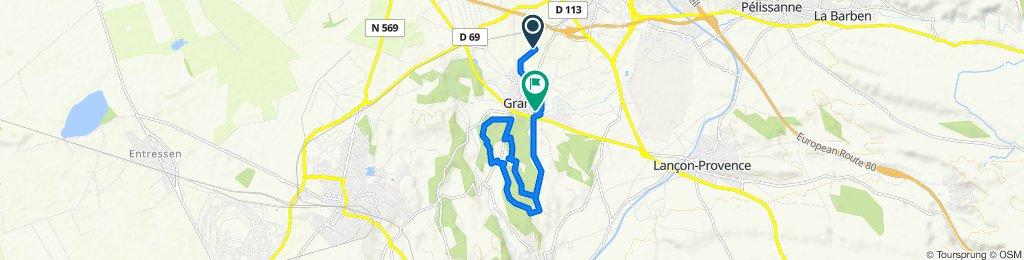 Itinéraire facile en Grans