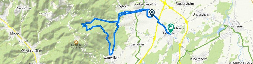 Route to 10 Rue des Pépinières, Bollwiller
