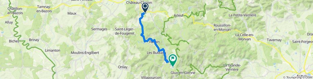 Précy - Source de l'Yonne - Aller