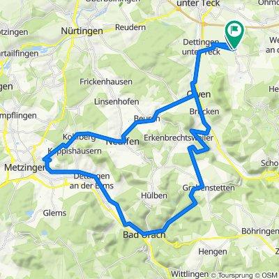 Nabern Urach Neuhausen-Weinbergwege-Neuffen-Nabern