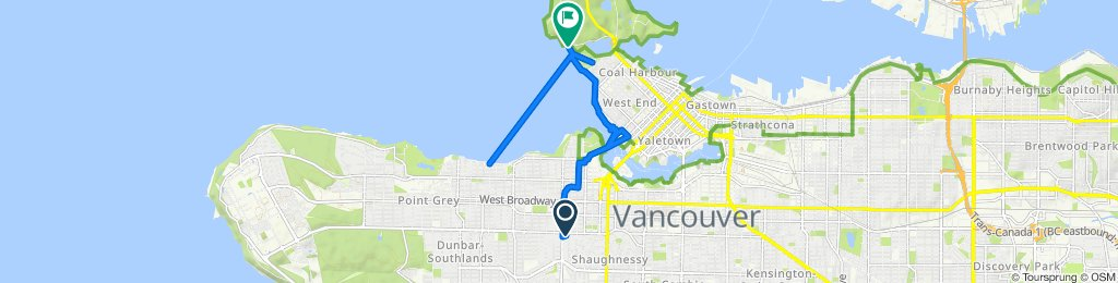 West 17th Avenue 2069, Vancouver to Stanley Park Drive 8501, Vancouver