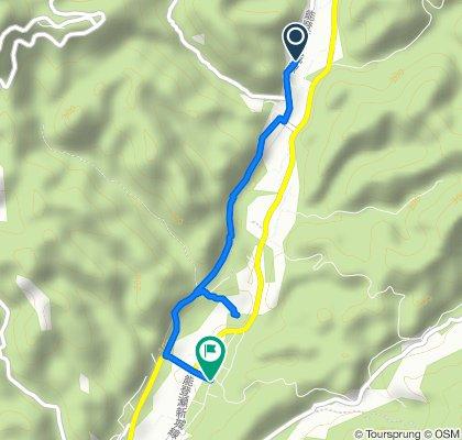 桐谷の渡しと大野宿 望月街道コース