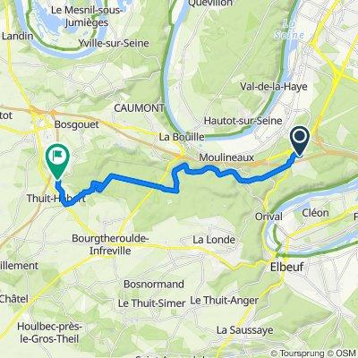 De Rue Jean Prévost 4, Grand-Couronne à Rue de la Louveterie 711, Thuit-Hébert