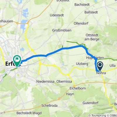 An der Erfurter Straße 7, Nohra to Willy-Brandt-Platz 12, Erfurt