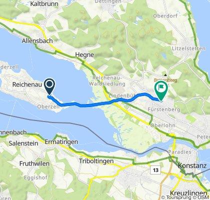 Fuchsengasse, Reichenau to Schwaketenstraße 48, Konstanz