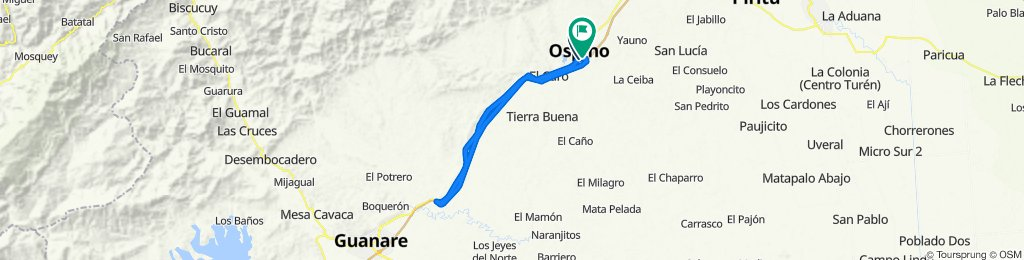 De Unnamed Road, Ospino a Unnamed Road, Ospino