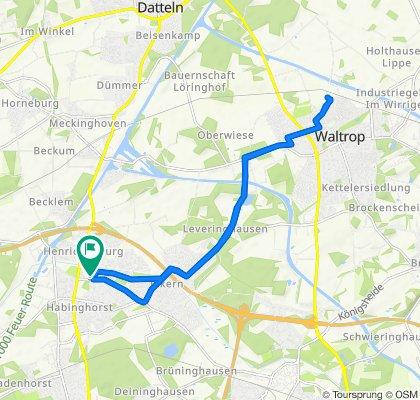 Nordstraße 105, Castrop-Rauxel nach Waltrop im Siepen 31 und zurückl