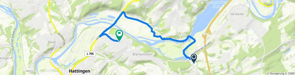 Moderate Route in Hattingen