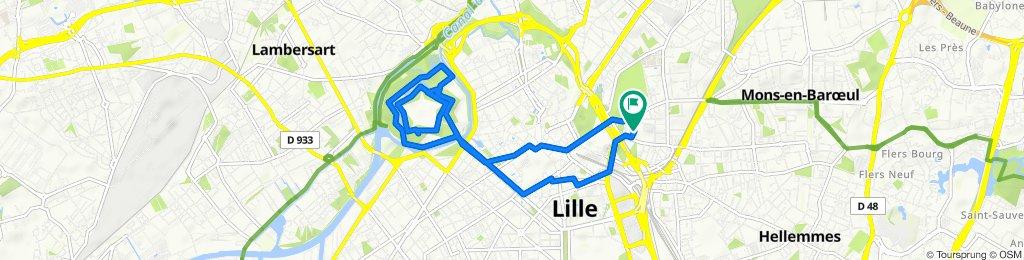 Itinéraire facile en Lille