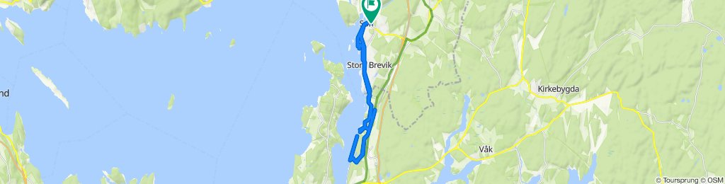 Kapellveien 14B to Løkkeveien 13