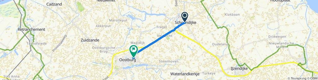 Ontspannen route in Oostburg