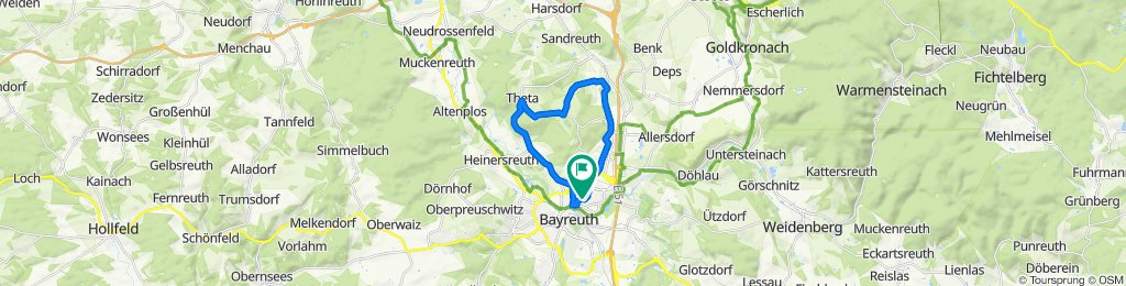 Sportliche Route in Bayreuth