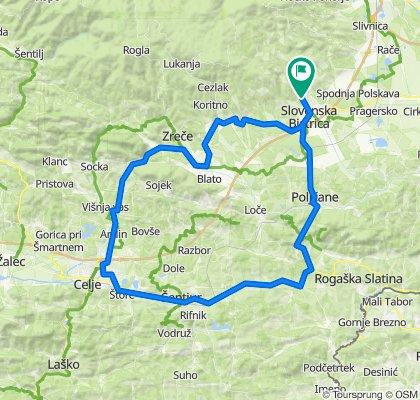 SL. Bistrica - Celje - Podplat - Sl. Bistrica