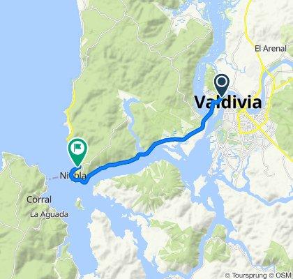 Avenida Los Robles 85, Valdivia to Tornagaleones, Valdivia