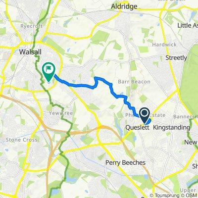 Route from 352–440 Queslett Road, Birmingham