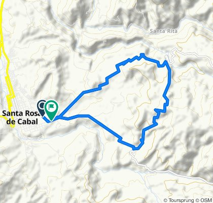 Route to Calle 8, Santa Rosa de Cabal