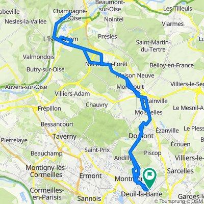7 Sentier de Sausseron, Deuil-la-Barre to 7 Sentier de Sausseron, Deuil-la-Barre