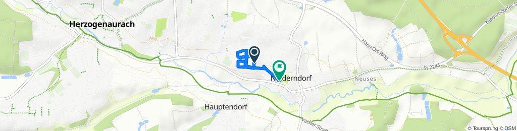 Entspannende Route in Herzogenaurach