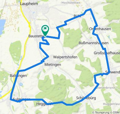 Hardter Weg 34, Laupheim to Hardter Weg 34, Laupheim