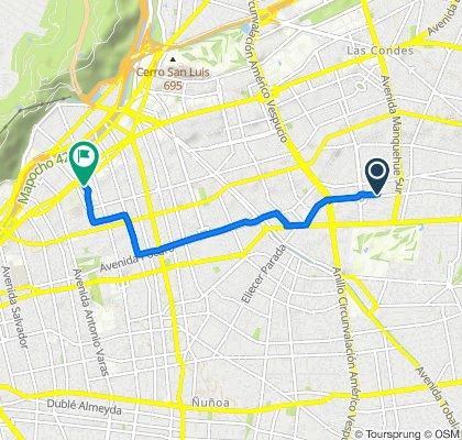De Latadia 5534, Las Condes a Marchant Pereira 150, Providencia