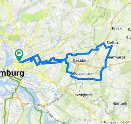 Entspannende Route in Hamburg