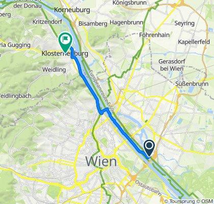 Am Wehr 1, Wien to Rathausplatz 4, Klosterneuburg