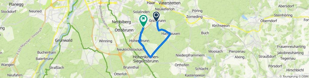 Grasbrunn to Hohenbrunner Straße, Putzbrunn