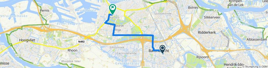 Lindehoevelaan 2, Barendrecht naar Lepelaarsingel 122C, Rotterdam