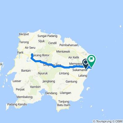Jalan Raya Manggar-Gantung to Gang Bantan 77, Manggar