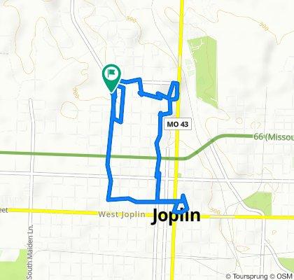 Rode around downtown Joplin